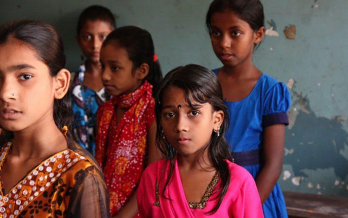 Barn i Barnehjemmet Dhammarajika. ble startet i 1972.